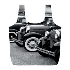 Vehicle Car Transportation Vintage Full Print Recycle Bags (l)