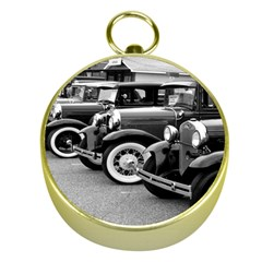 Vehicle Car Transportation Vintage Gold Compasses