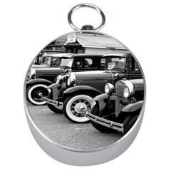 Vehicle Car Transportation Vintage Silver Compasses