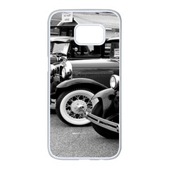 Vehicle Car Transportation Vintage Samsung Galaxy S7 Edge White Seamless Case by Nexatart
