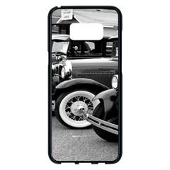 Vehicle Car Transportation Vintage Samsung Galaxy S8 Plus Black Seamless Case by Nexatart