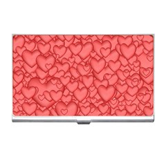 Background Hearts Love Business Card Holders