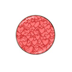 Background Hearts Love Hat Clip Ball Marker (10 Pack)
