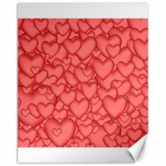 Background Hearts Love Canvas 16  X 20