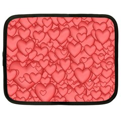 Background Hearts Love Netbook Case (large)