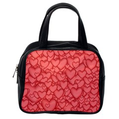 Background Hearts Love Classic Handbags (one Side)