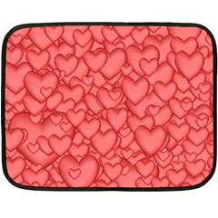 Background Hearts Love Fleece Blanket (mini)
