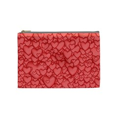 Background Hearts Love Cosmetic Bag (medium)