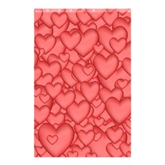 Background Hearts Love Shower Curtain 48  X 72  (small)