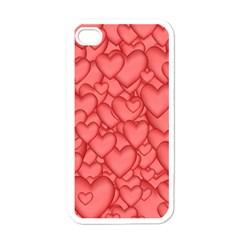 Background Hearts Love Apple Iphone 4 Case (white)