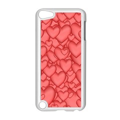 Background Hearts Love Apple Ipod Touch 5 Case (white)