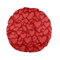 Background Hearts Love Standard 15  Premium Round Cushions