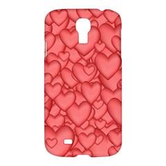 Background Hearts Love Samsung Galaxy S4 I9500/i9505 Hardshell Case