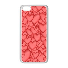 Background Hearts Love Apple Iphone 5c Seamless Case (white)