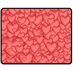 Background Hearts Love Double Sided Fleece Blanket (medium)  by Nexatart
