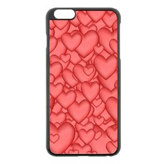 Background Hearts Love Apple Iphone 6 Plus/6s Plus Black Enamel Case