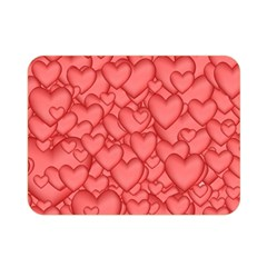Background Hearts Love Double Sided Flano Blanket (mini)