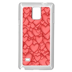 Background Hearts Love Samsung Galaxy Note 4 Case (white)
