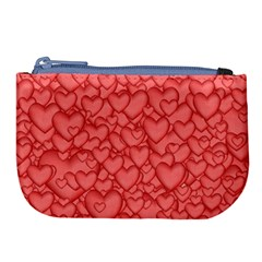 Background Hearts Love Large Coin Purse