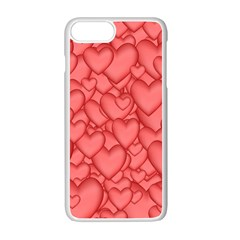 Background Hearts Love Apple Iphone 7 Plus Seamless Case (white)