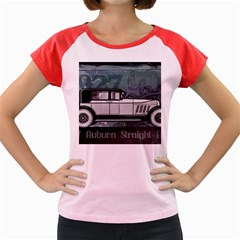 Vintage Car Automobile Auburn Women s Cap Sleeve T Shirt