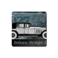 Vintage Car Automobile Auburn Square Magnet