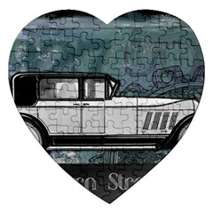 Vintage Car Automobile Auburn Jigsaw Puzzle (heart)