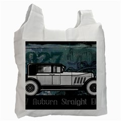 Vintage Car Automobile Auburn Recycle Bag (one Side) by Nexatart