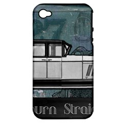 Vintage Car Automobile Auburn Apple Iphone 4/4s Hardshell Case (pc+silicone)