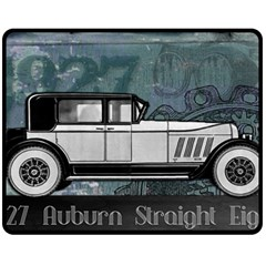 Vintage Car Automobile Auburn Double Sided Fleece Blanket (medium)