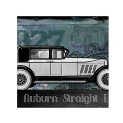 Vintage Car Automobile Auburn Small Satin Scarf (square)