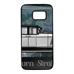 Vintage Car Automobile Auburn Samsung Galaxy S7 Black Seamless Case