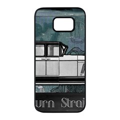 Vintage Car Automobile Auburn Samsung Galaxy S7 Edge Black Seamless Case