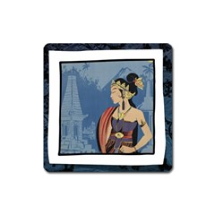 Java Indonesia Girl Headpiece Square Magnet