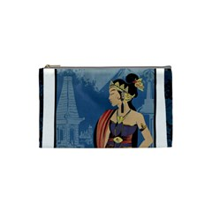 Java Indonesia Girl Headpiece Cosmetic Bag (small)