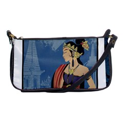 Java Indonesia Girl Headpiece Shoulder Clutch Bags