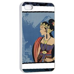 Java Indonesia Girl Headpiece Apple Iphone 4/4s Seamless Case (white)