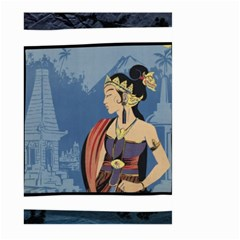 Java Indonesia Girl Headpiece Large Garden Flag (two Sides)