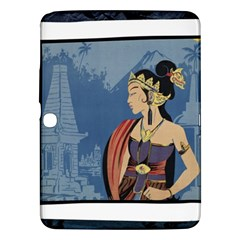 Java Indonesia Girl Headpiece Samsung Galaxy Tab 3 (10 1 ) P5200 Hardshell Case
