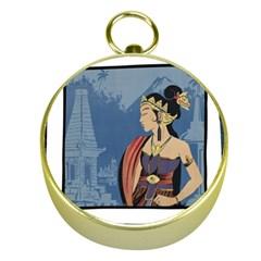 Java Indonesia Girl Headpiece Gold Compasses