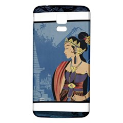 Java Indonesia Girl Headpiece Samsung Galaxy S5 Back Case (white)