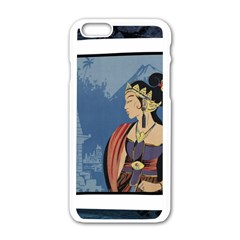 Java Indonesia Girl Headpiece Apple Iphone 6/6s White Enamel Case