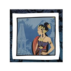 Java Indonesia Girl Headpiece Small Satin Scarf (square)