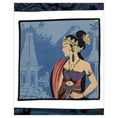 Java Indonesia Girl Headpiece Drawstring Bag (small) by Nexatart