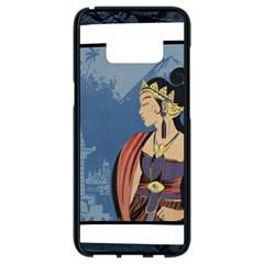 Java Indonesia Girl Headpiece Samsung Galaxy S8 Black Seamless Case by Nexatart