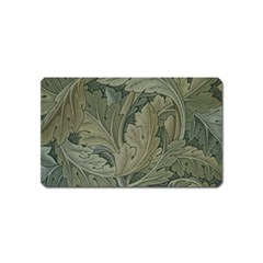 Vintage Background Green Leaves Magnet (name Card)