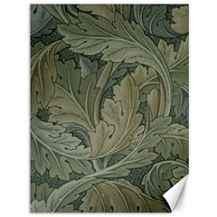 Vintage Background Green Leaves Canvas 36  X 48