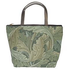 Vintage Background Green Leaves Bucket Bags by Nexatart