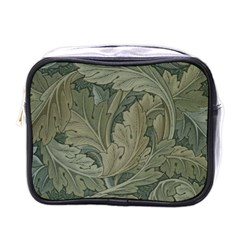 Vintage Background Green Leaves Mini Toiletries Bags