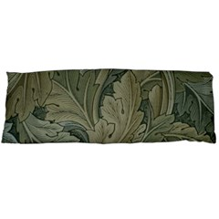 Vintage Background Green Leaves Body Pillow Case Dakimakura (two Sides)